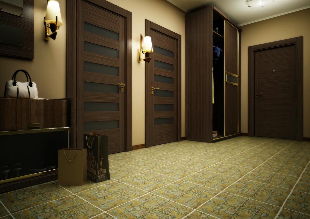 Фото коридора с натяжными потолками многие жалуются